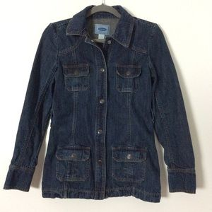 Old Navy Dark Washed Jean Jacket Size S